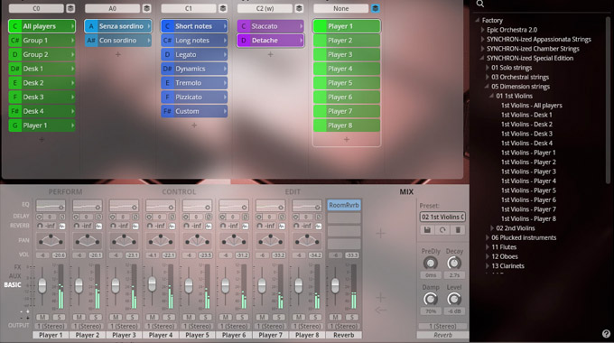 Thumbnail SYNCHRON-ized Special Edition Vol. 5 Dimension Strings - 1st Violins - Mixer View