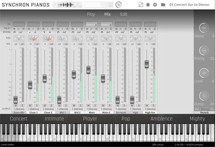 Yamaha CFX Concert Grand Mixer View
