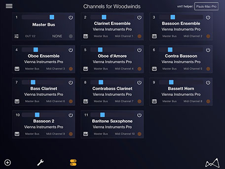 VM1 App - Channel Overview