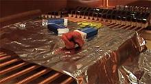 Prepared piano - rubbers