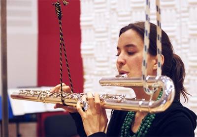 Vera Fischer, bass flute