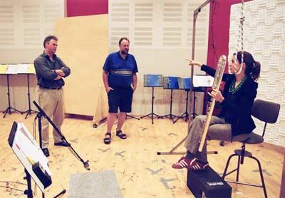 Michi, Herb, and bass flutist Vera Fischer