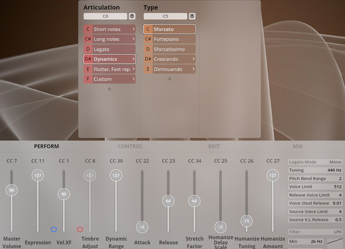 Natural Horn in Eb GUI