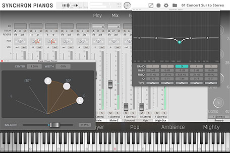 Synchron Piano Player Mixer Page