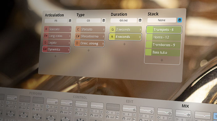 Synchron Brass GUI - Giant Tutti Brass - Mixer