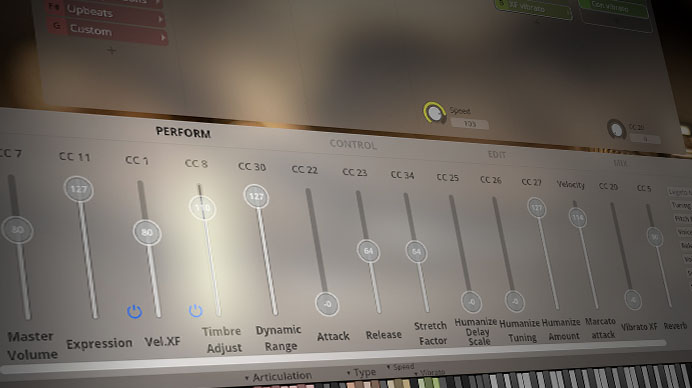 Synchron Brass GUI - Trumpet1 - Timbre Adjust