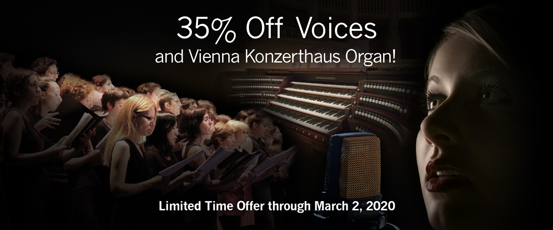 Promo: 35% Dicsount on Voices & Konzerthaus Organ